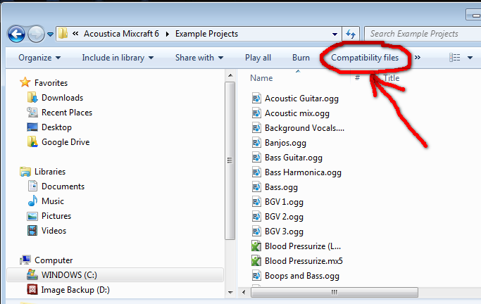 Compatibility Files Option