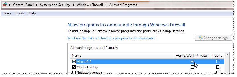 Editing the Windows Firewall